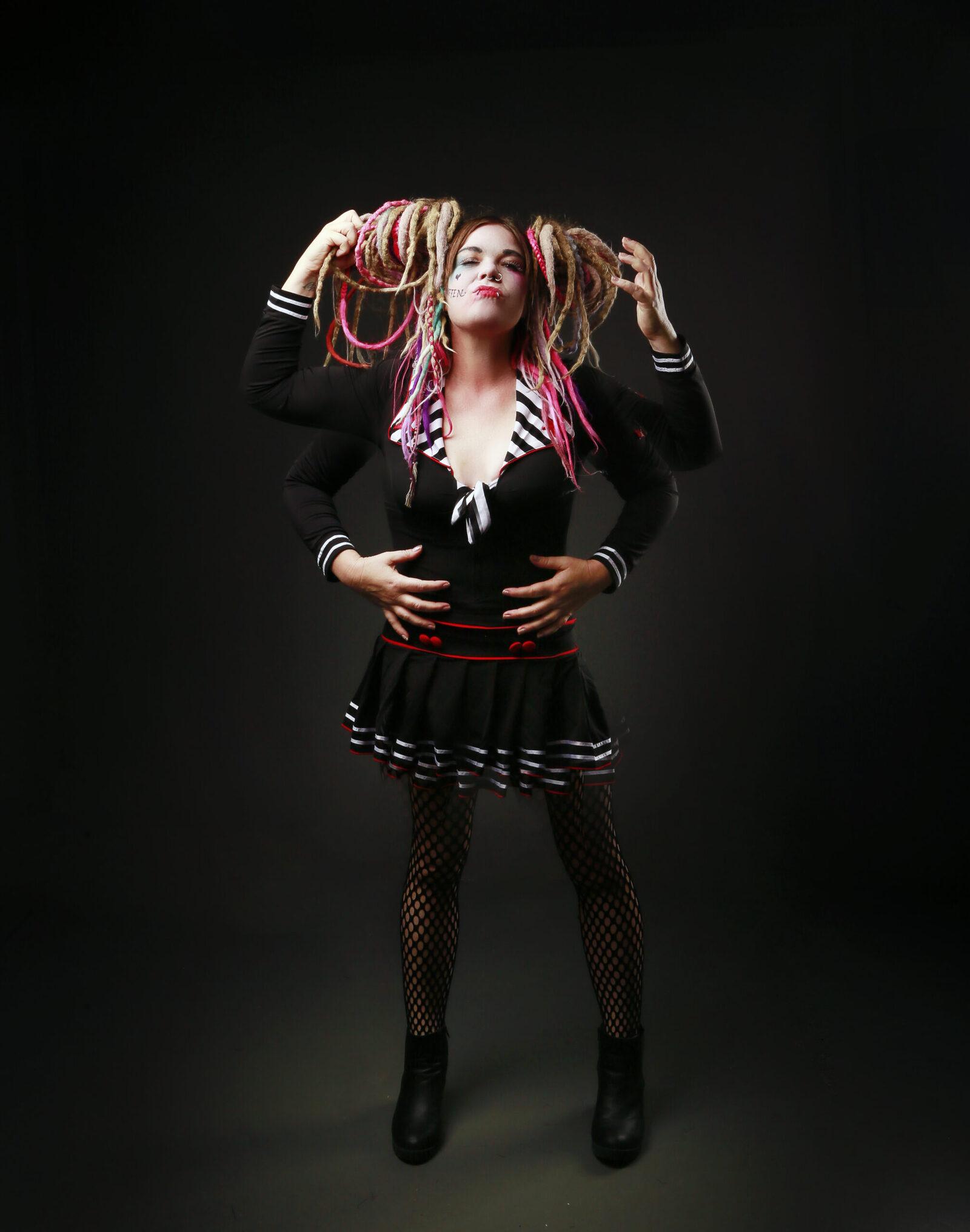 Harlequin photo shoot, Perth portrait photographer, Acid Rain